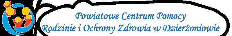 napis logo powiatowego centrum pomocy rodzinie